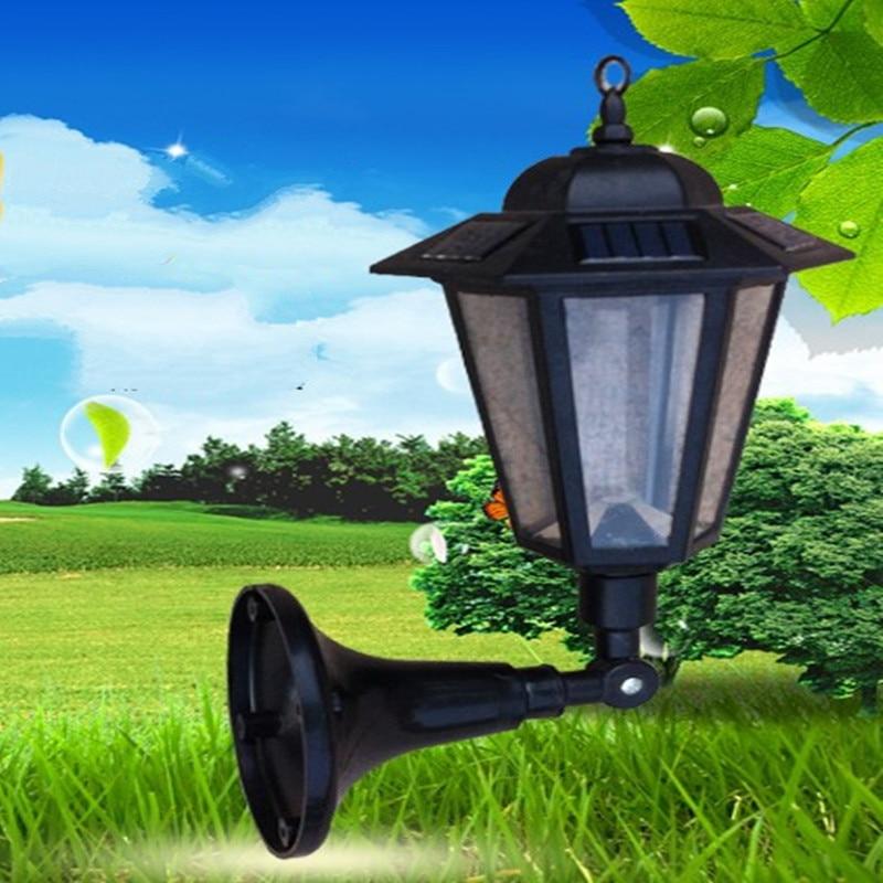 LED Solar Panel Wall Lights Waterproof Garden Outdoor Landscape Lamp Path Street Energy Saving Garland Lighting Luminaria decor 5w led lamp outdoor garden lawn lighting fixture ac85 265v e27 metal landscape lamp led path light