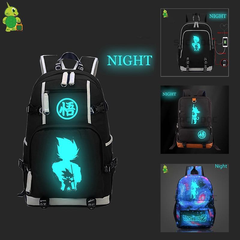 Dragon Ball Luminous Canvas Backpack Super Saiyan Goku Vegeta School Bags For Teenagers Boys Girls's Backpack Laptop Travel Bags