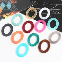 Ritoule DIY handmade ornaments accessories acetic acid small fresh lines elliptical ring earrings materials pendant