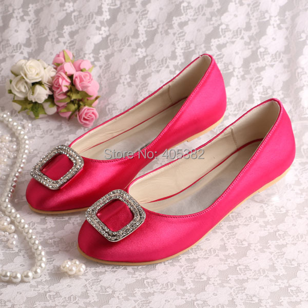 20 Colors)New Model Hot Pink Ladies Prom Shoes Beautiful Ballet Flat ...