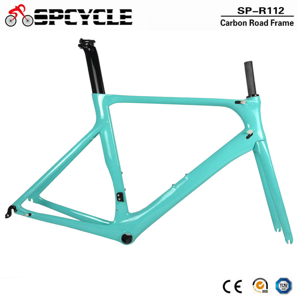 Spcycle OEM Full Carbon Road Bike Frame DI2 & Machinery Road Racing Bicycle Carbon Frameset BB86 50.5/53/56cm 2 Year Warranty(China)