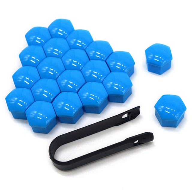 20pcs Universal Wheel Nuts Covers Protective Cap 17mm 19mm 21mm Car Accessories Tire Sticker Caps Hub Screw Protector