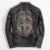 ENVÍO GRATIS 2017 Nuevo de La Vendimia Negro Cráneo de Los Hombres de Cuero de La Motocicleta chaqueta de piel de Vaca Real Slim Fit Corto Hombres Invierno Abrigo Biker XXL