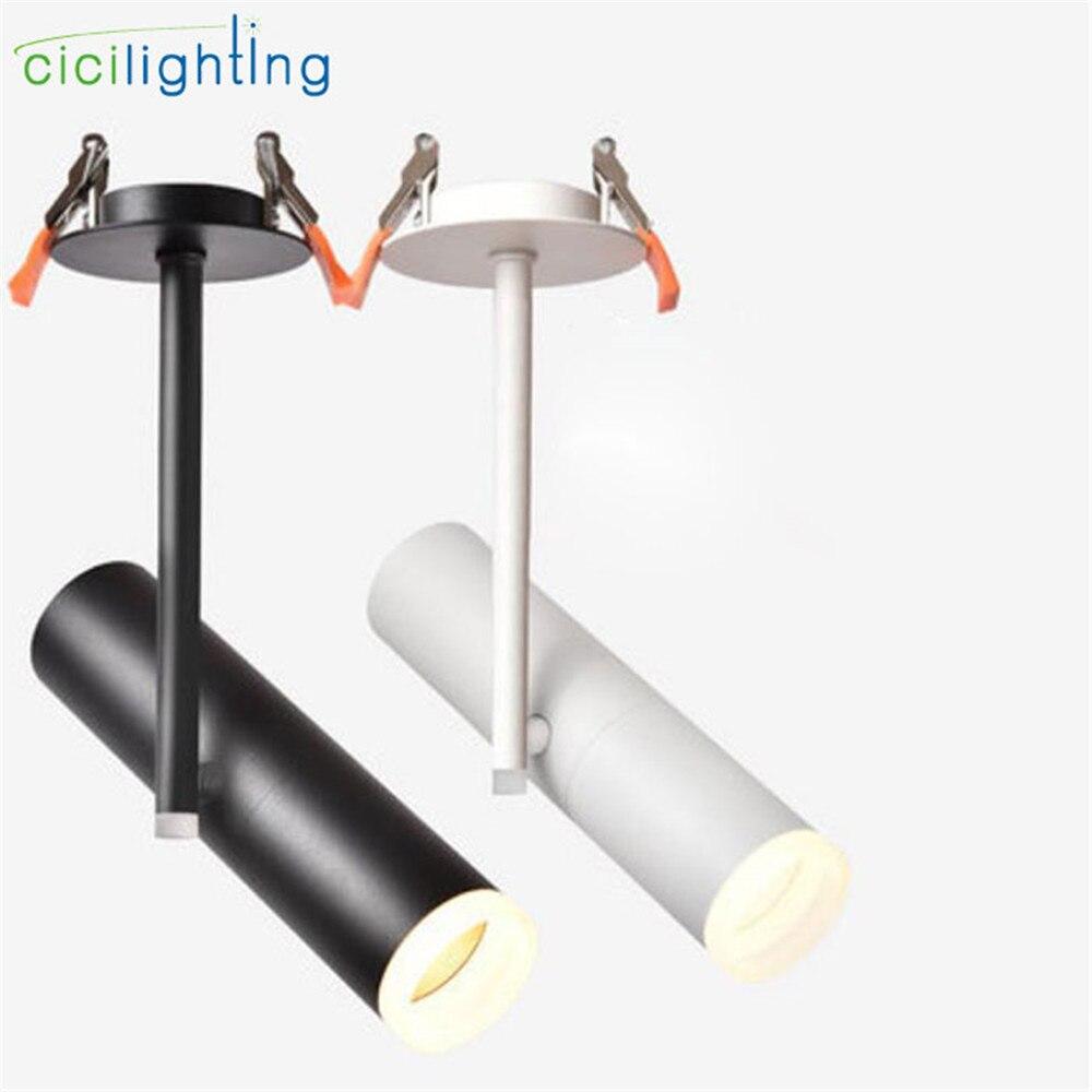 modern led luzes de teto downlights 2018 new black white led resessed para shopping loja de