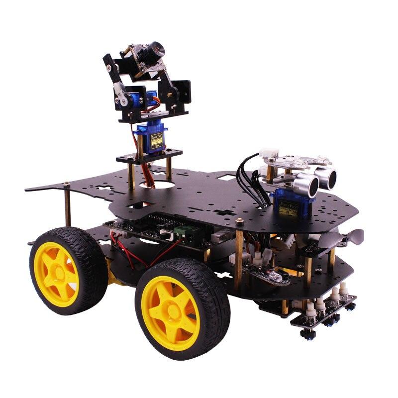 Yahboom 4WD inteligentny robota RC samochód inteligentny samochód z WIFI kamery dla Raspberry Pi 3B + w Samochody RC od Zabawki i hobby na  Grupa 3