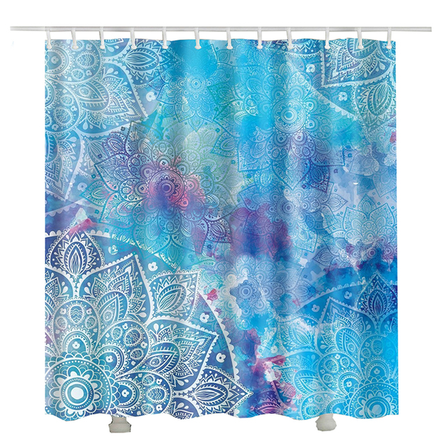 New Indian Mandala Shower Curtain For Bathroom 3d Waterproof Polyester Fabric Art