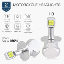 Bevinsee LED Motorcycle Headlight Kit For POLARIS PRO X 120 2004-2006 led Motor Lamp 6500K 1500LM 2x Bulbs