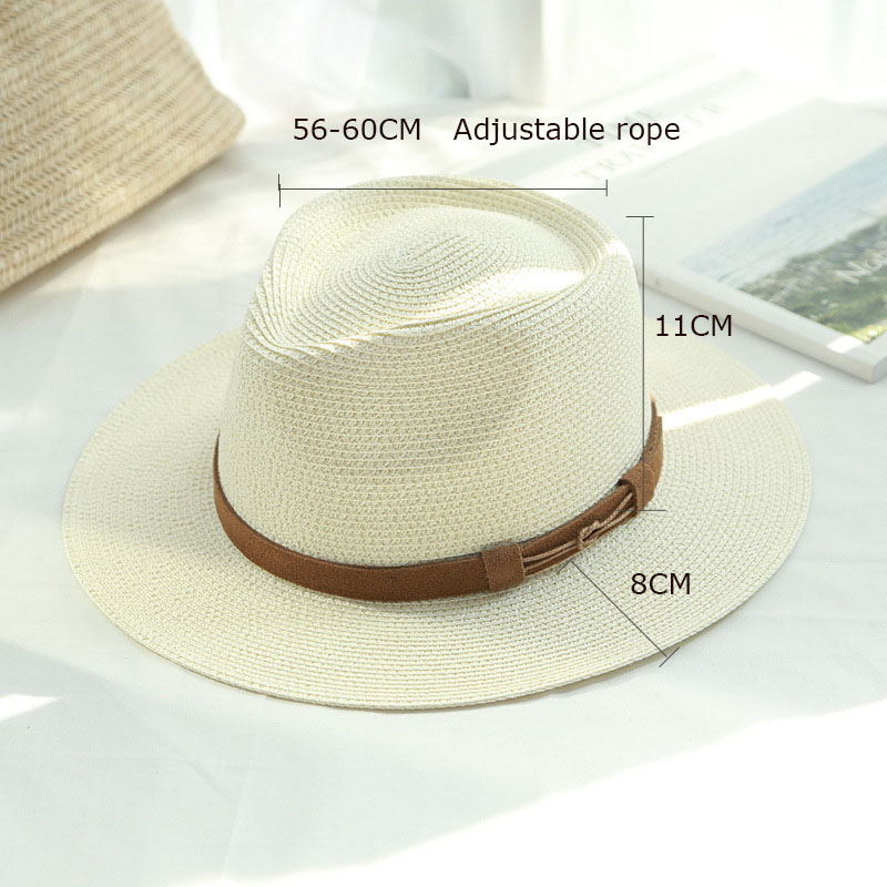 748e496f5ac81d 2018 Brand Spring and Summer Caps Sun Straw Hats For Men and Women Lady  straw Hat Bowler Beach Decoration Cap-in Sun Hats from Apparel Accessories  on ...