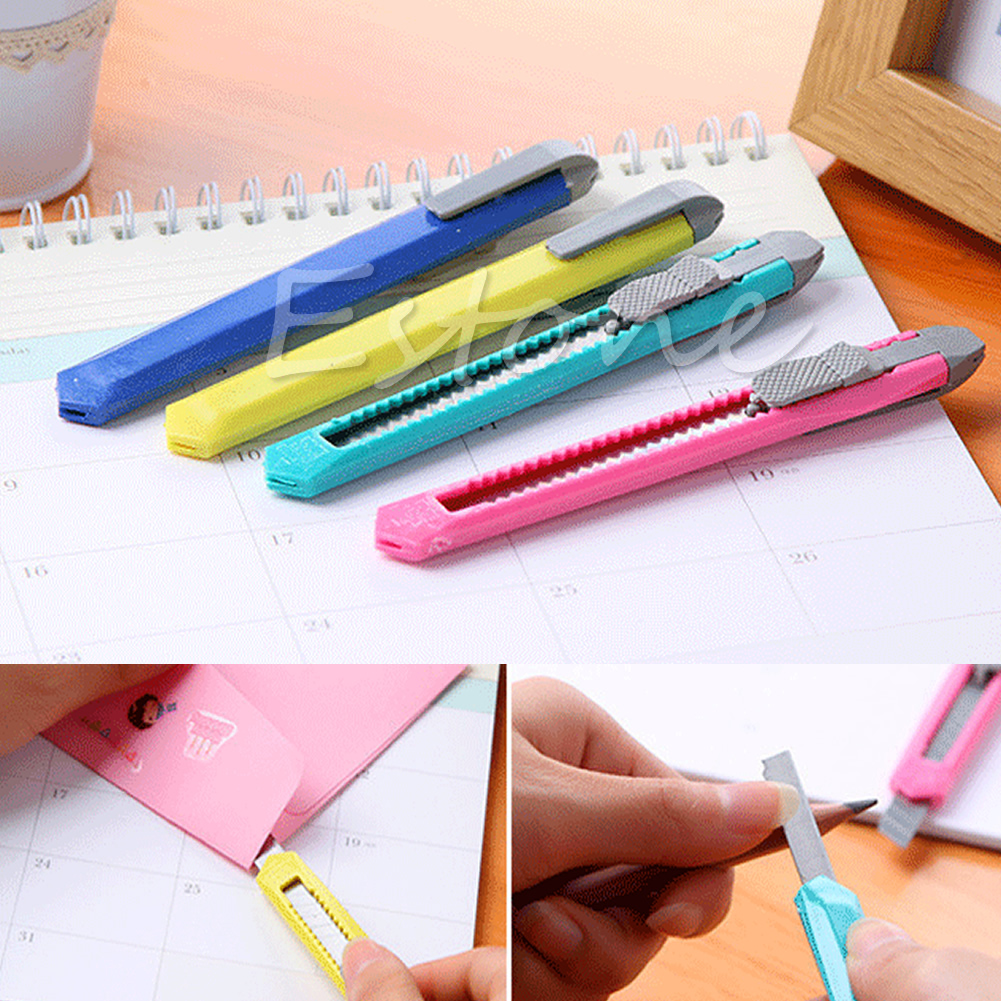 2PCS Box Cutter Utility Knife Snap Off Retractable Razor Blade Knife Tool School Stationery  Accessories Office Supply