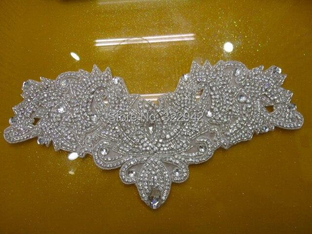 Drahokamu nášivka křišťálový nášivka slonovinové perly svatební nášivka náplastí, korálkový náplast pro kutilství svatební křídla svatební doplňky
