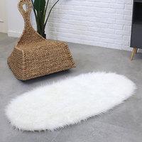 Carpet Floor Fluffy Rugs Wool Carpet Bedroom Chair Fluffy Ellipse Anti Skid