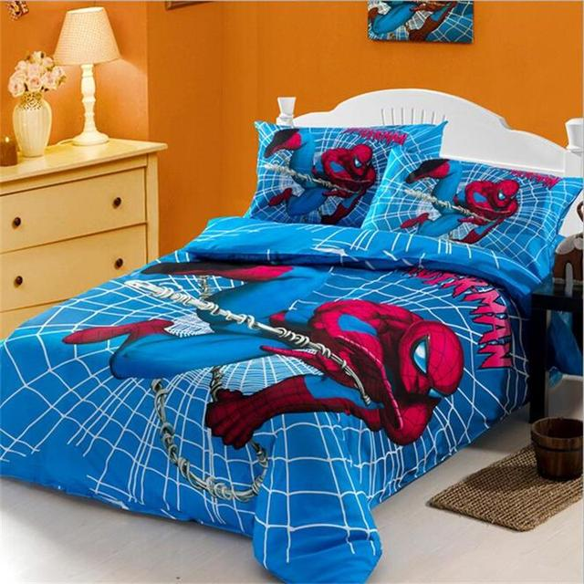 Super Hero Spiderman Iron Man Teen Boy And Girl Bedding Sets Twin Queen  Size Duvet Cover
