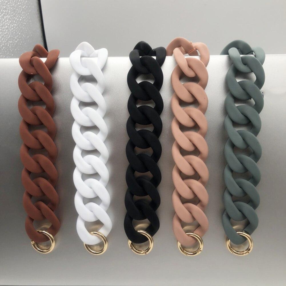 1PC 30cm/41cm Detachable Replacement Shoulder Bag Strap Acrylic Resin Chain Bag Handles Quality DIY Solid Color Bag Accessories