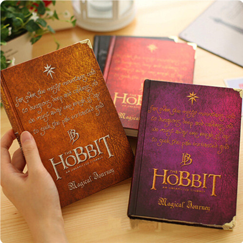 New Hobbit Notebook Vintage Hardcover Notebook for Gift Movie Hobbit Daily Memo Notepad Travel Journal A5 Size Four Designs game of thrones notebooks vintage hardcover notebook for gift movie a song of ice and fire a5 size nine designs day planner