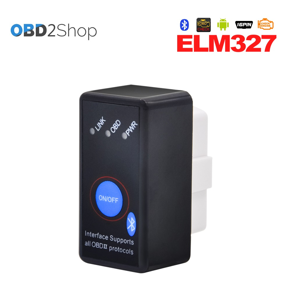 Супер Мини ELM327 Bluetooth ELM 327 OBD2 OBD II может-автобус диагностический автомобилей сканер инструмент с переключателем