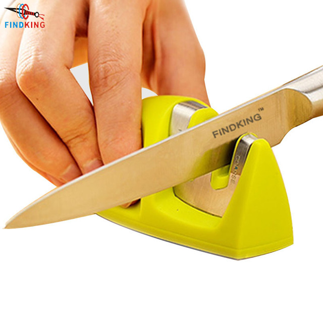 FINDKING Brand Two Stages Diamond Ceramic Kitchen Knife Sharpener Sharpening Stone Household