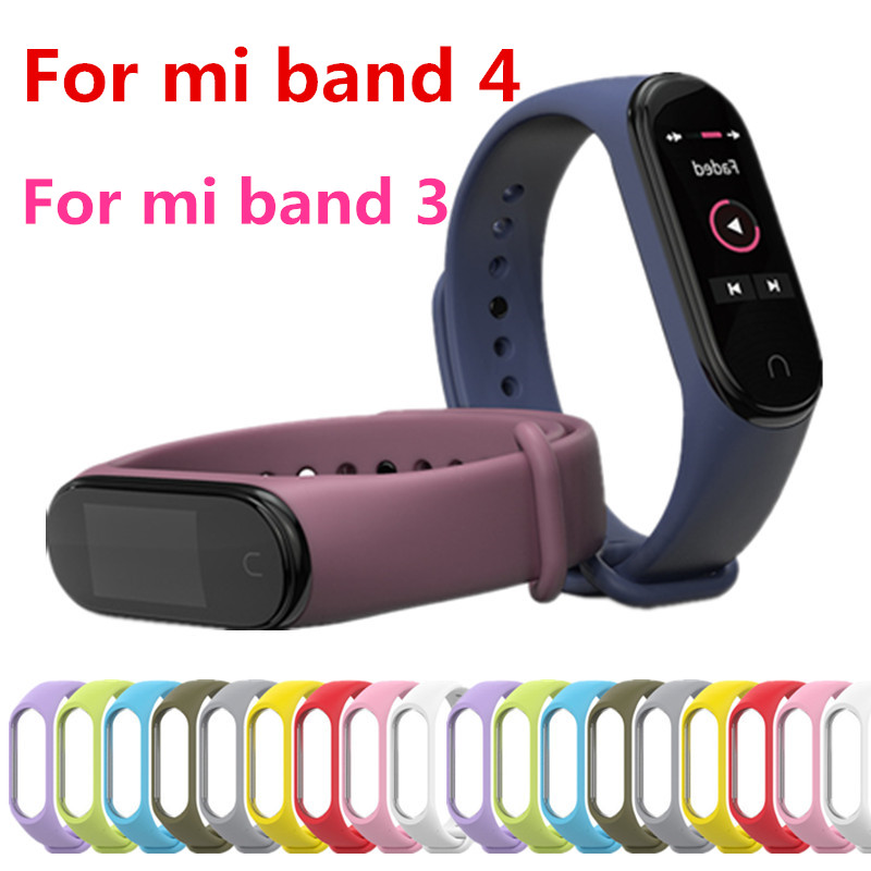 Mi Band 4 3 Strap Bracelet Silicone Wristband Band Smart Mi Band 3 4 Bracelet Accessories Wrist Strap And For Xiaomi Mi Band 4 3