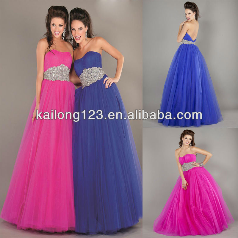 Aliexpress.com : Buy Regal Strapless Ball Gown Floor length ...