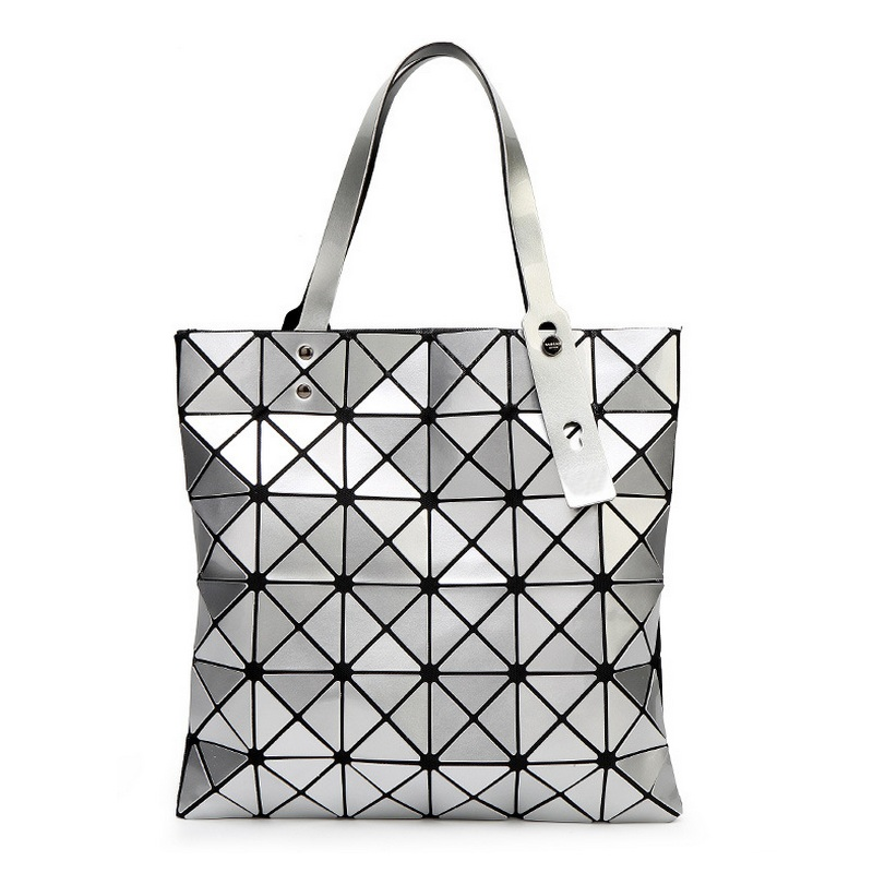 Female Folded Geometric Plaid Bag Fashion Casual Tote Women Handbag Ladies Shoulder Bags Pearl Top Handle