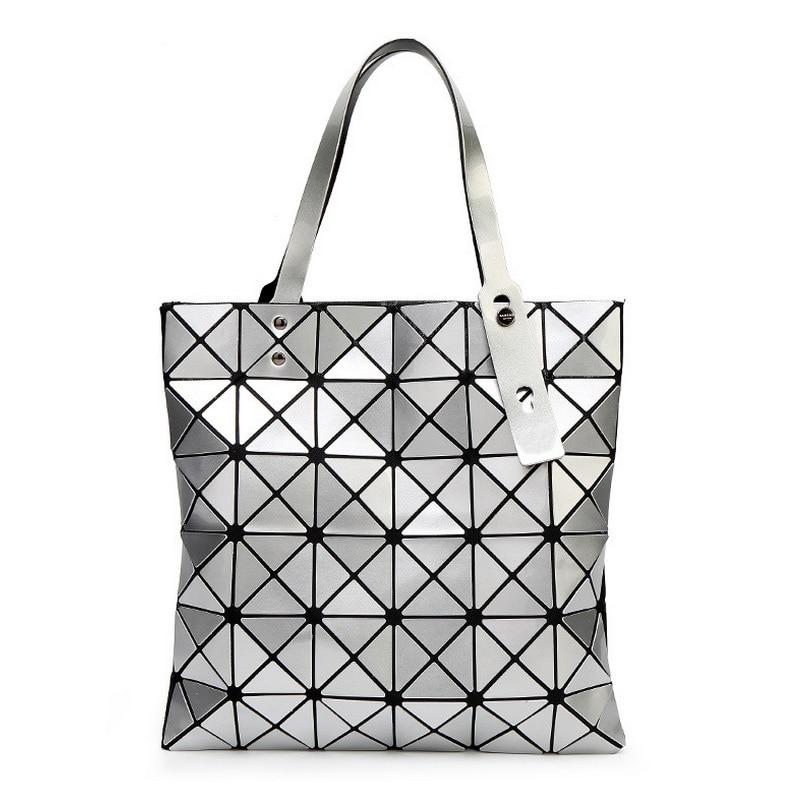 Female Folded Geometric Plaid Bag Fashion Casual Tote Women Handbag Ladies Shoulder Bags Pearl Top Handle Bag