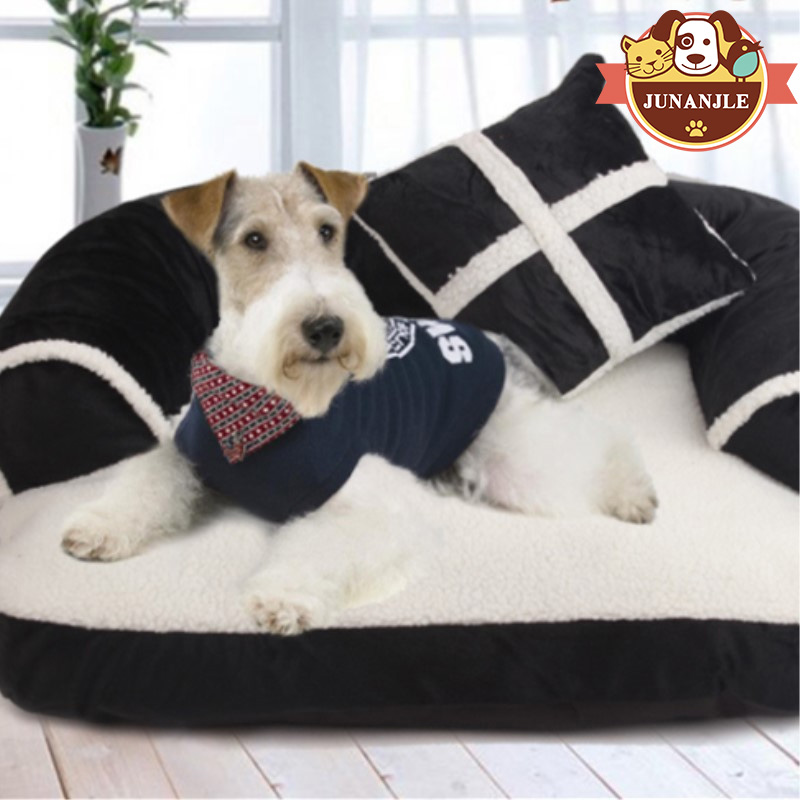 2018 doux pour animaux de compagnie chien maison plus chaud pour animaux de compagnie chiot maison matelas pour animaux de compagnie chat grand chien tissé chiot confortable épais chaud tapis fournitures pour animaux de compagnie