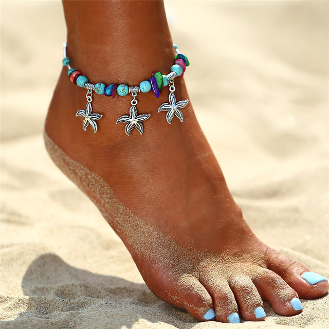 IF YOU New Design Sea Turtles Single Layer Anklet Vintage Dragonfly Style Charm Chain Foot Anklet For Women Jewelry Drop Shipper 5
