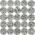 50 шт., акриловые бусины серебристого цвета для самостоятельного изготовления браслетов, ожерелий, ювелирных изделий, 3x7 мм