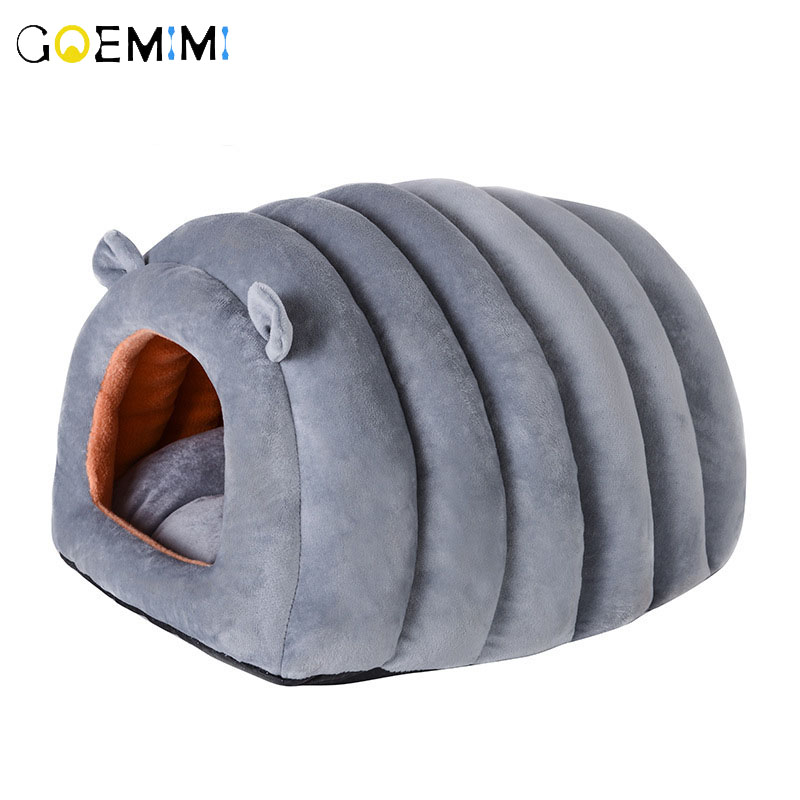 2019 Cat Sleeping Bag Sofas Mat Winter Warm Puppy Dog Kennel Cave Top Quality Bear Shape Pet Bed For Cats Lovely Bed