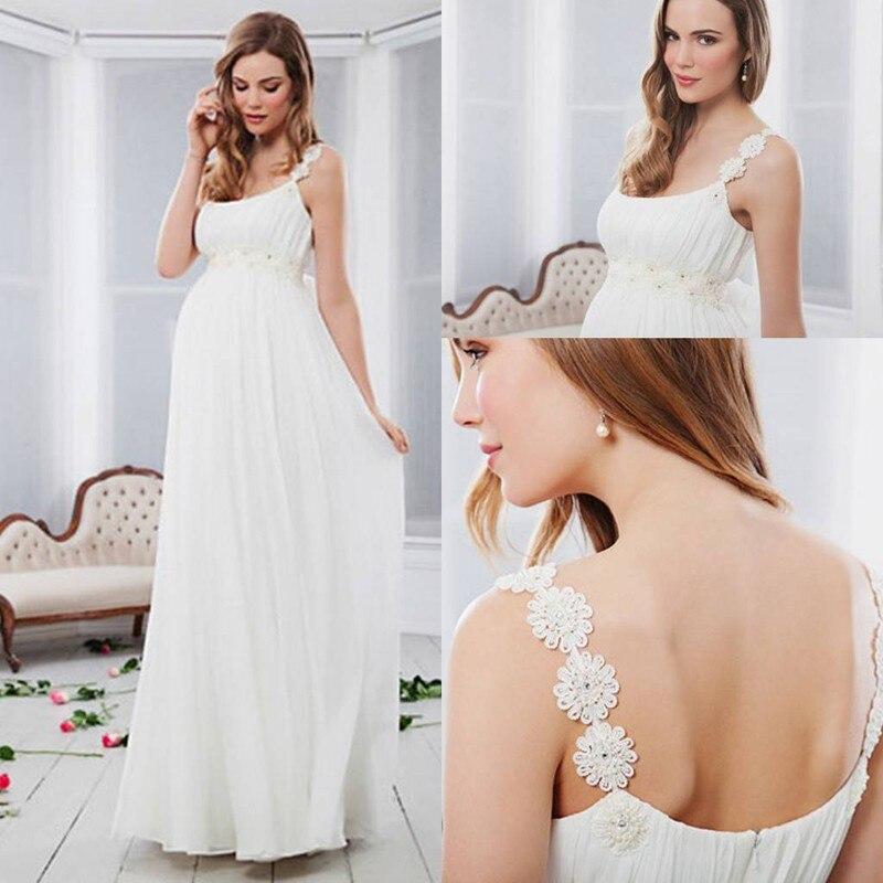 Vestido De Noiva Bridal Gown Chiffon Cheap For Pregnant Women Plus Size 2018 New Off The Shoulder Mother Of The Bride Dresses
