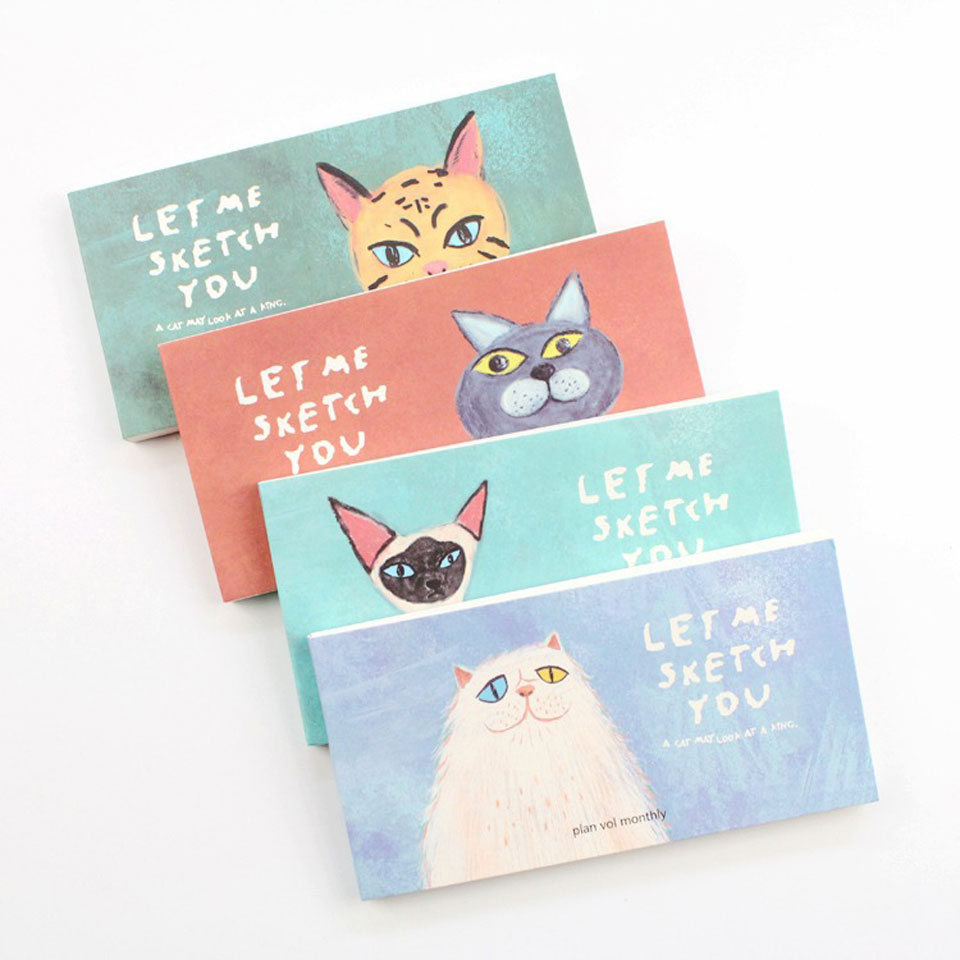4 Pcs/lot Cartoon Cat Memo Pad Notebook Paper Kawaii Cute Sticky Notes Planner Memo Book Post For Offce School Supplies Gift cute leather a7 memo pad mini paste message stickers smile laugh notebook personal daily planner organizer notes paper with box