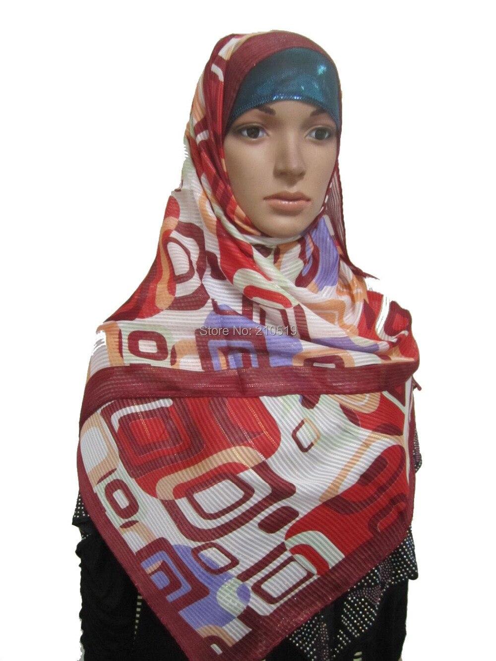 CN016 Clearance sequin Muslim hijab 165*50cm islamic long scarf