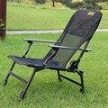 Corrimão de alumínio malha respirável oxford pano dobrável cadeira cadeira de pesca cadeira do lazer cadeira de perna ajustável pausa para o almoço