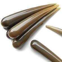 Gua sha 21 см круглый носок натуральный Рог массаж палочка для иглоукалывания ex-b2 bs34 массаж Рог яка