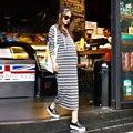 Vestidos de maternidade para as mulheres grávidas dress para gestantes outono inverno do vintage solta roupa de maternidade gravidez roupa b388