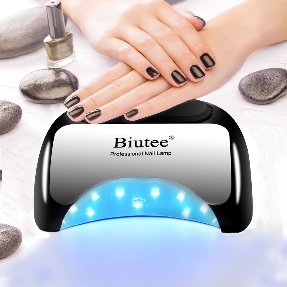 Biutee Professional 48 W LED Lamp Nail Dryer For Nail Gel Polish Curing Fast Nail Lamp Dryers Art Manicure Automatic Sensor biutee professional 48w uv led nail lamp dryer for nail gel polish curing art manicure automatic sensor nail tools