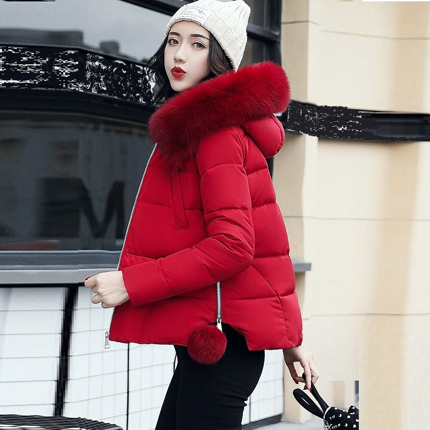 2017 Winter Women Hooded Wadded Coat Female Plus Size Warm Thickening Casual Cotton-padded Jacket Coat Fur Collar Outwear 98656 To Enjoy High Reputation At Home And Abroad