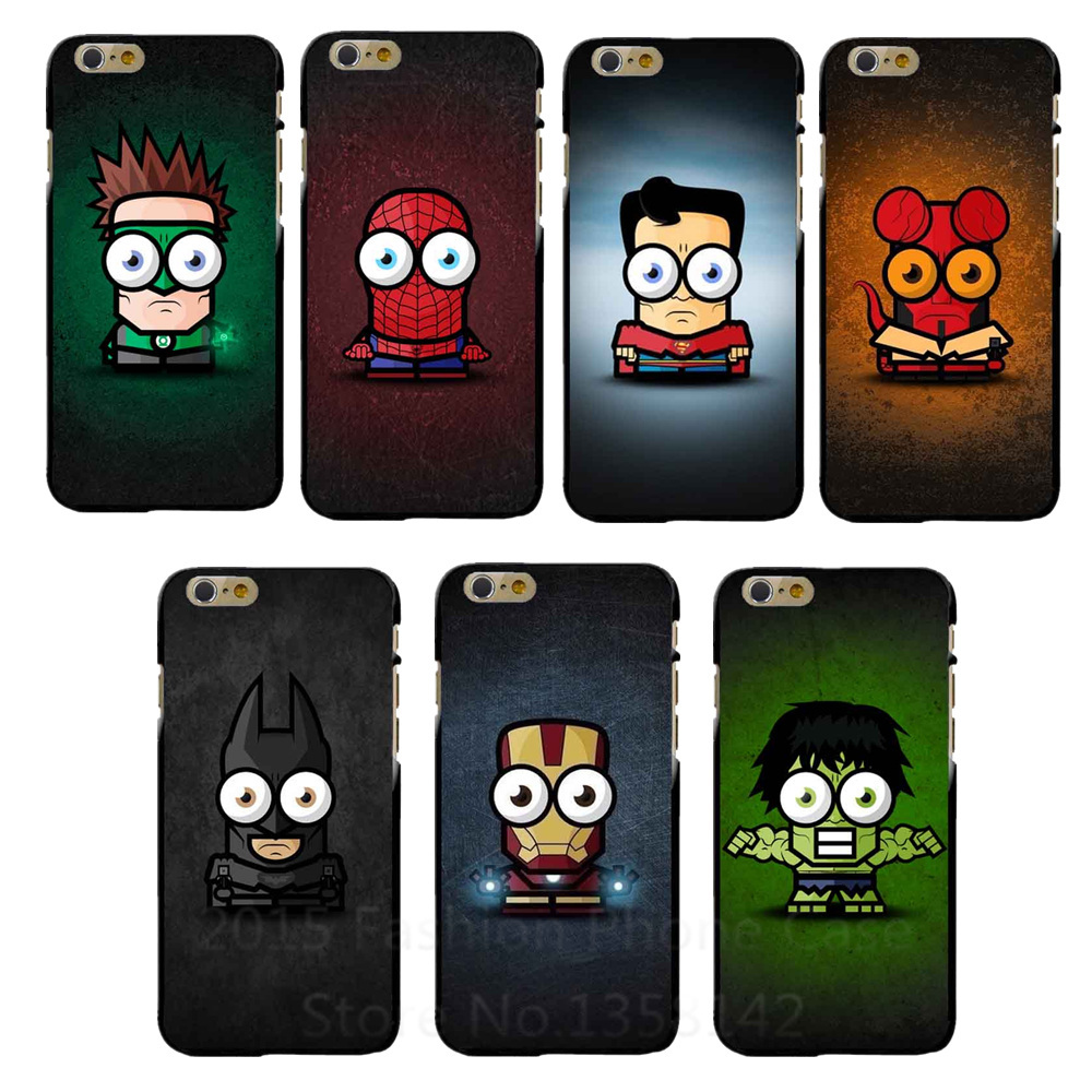 2016 New <font><b>Super</b></font> <font><b>hero</b></font> Hard <font><b>Case</b></font> Cartoon <font><b>Case</b></font> <font><b>For</b></font> Apple i Phone <font><b>iPhone</b></font> <font><b>6</b></font> 6S <font><b>6</b></font> <font><b>Plus</b></font> 6S <font><b>Plus</b></font> <font><b>Spiderman</b></font> batman The hulk Cover <font><b>Cases</b></font>
