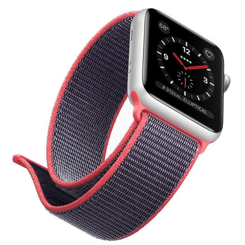 for Apple Watch Sport Loop Band 38mm 42mm Lightweight Breathable Nylon Replacement Strap for Apple Watch iWatch Series 1 2 3 цена
