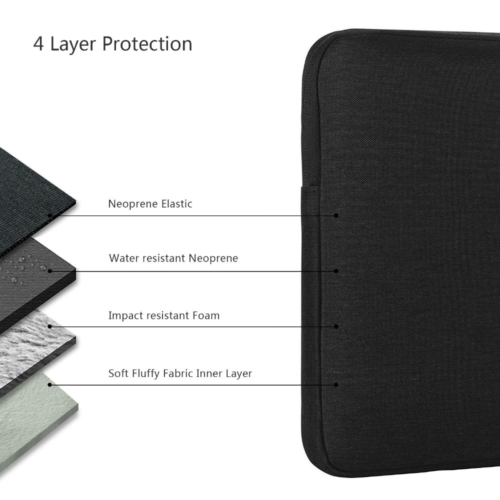 Nylon Laptop Sleeve Notebook Bag Pouch Case for Macbook Air 11 13 12 15 Pro 13.3 15.4 Retina Unisex Liner Sleeve for Xiaomi Air  5