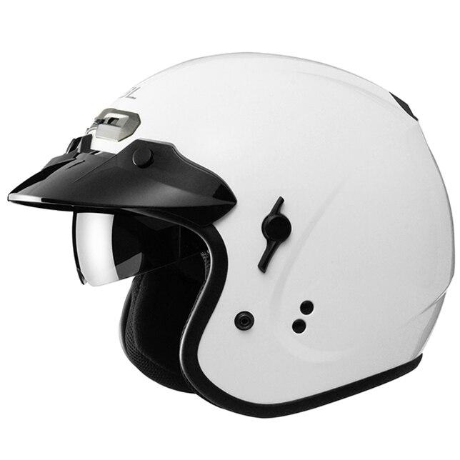 Classic SOL Vintage Bike Helmet open face Motorcycle helmet DD ring buckle DOT ECEA approved casco
