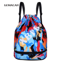 Fashion Oxford Drawstring Bag Camouflage Casual Large Capacity Lightweight Backpack
