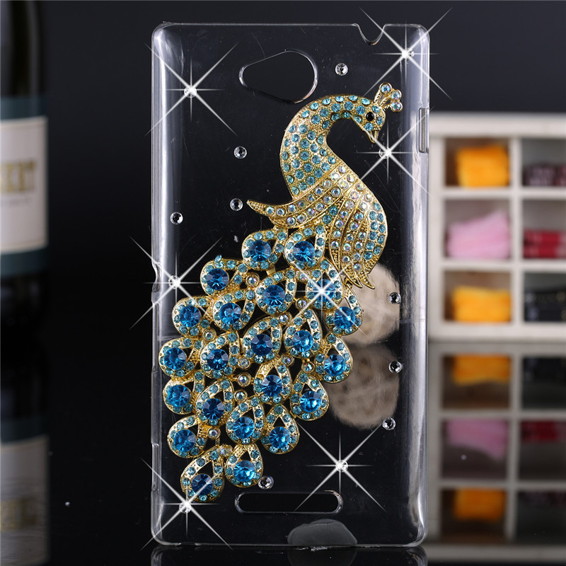 INSOU Official Store Luxury 3d case For Sony Xperia C S39h,Crystal Bling Case Rhinestone Cover For Sony Xperia C S39h C2305 C2304 Cases