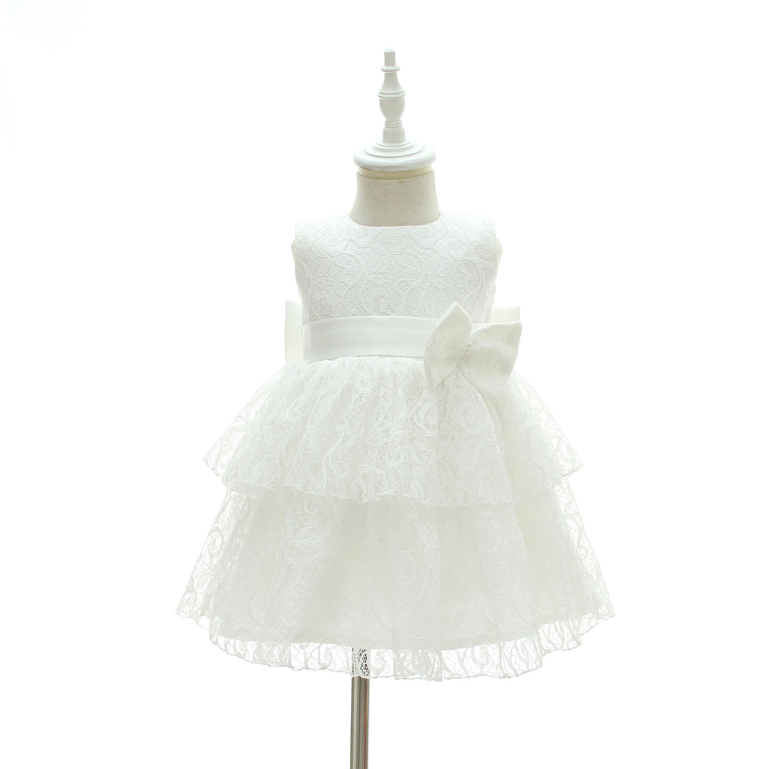 Newborn Babe Baby Girl Dress Little Bridesmaid Clothes White Beautiful Christening Gown Baby Baptism First Birthday Outfits