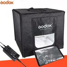 Godox LSD80 80*80 cm 40 w LED Photo Studio Softbox Luz Tent SoftBox + Adaptador AC + PVC fundos para o Telefone DSLR Tiro Produto