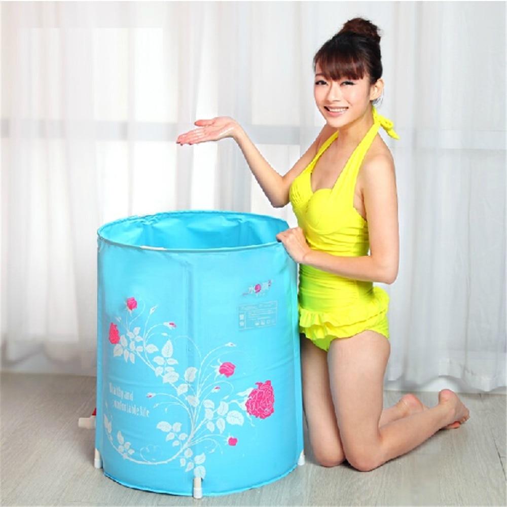 Water beauty folding tub bath bucket adult bathtub inflatable ...