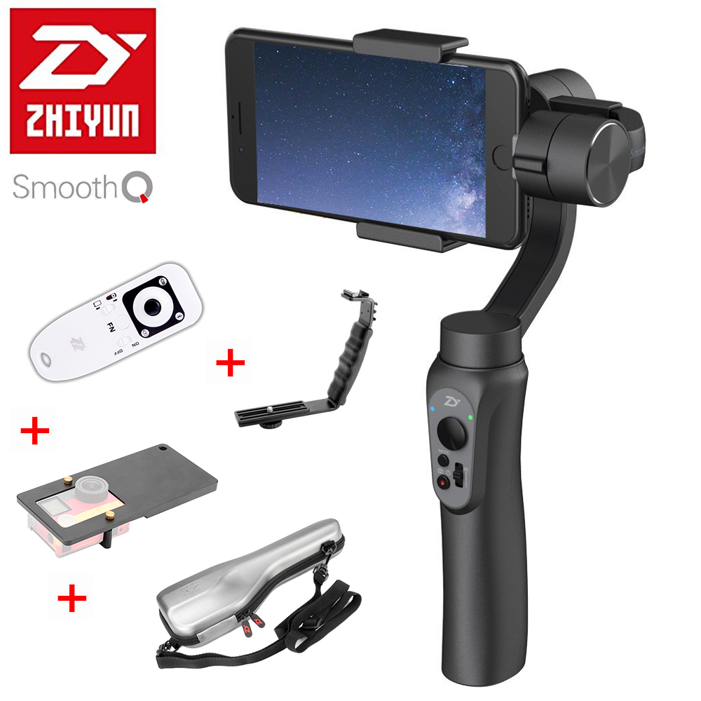 Presell Zhiyun SMOOTH Q Handheld 3 Axis Gimbal Portable Stabilizer With Selfie Light For Smartphone Vertical