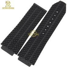 Convexe interface Large Caoutchouc bracelet silicone bracelet hommes bracelet 25mm accessoires bande de montre-bracelet montres bracelet