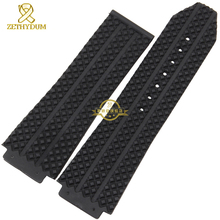 Convex interface Wide Rubber bracelet silicone wristband men watchband 25mm accessories Wrist watch band wristwatches strap