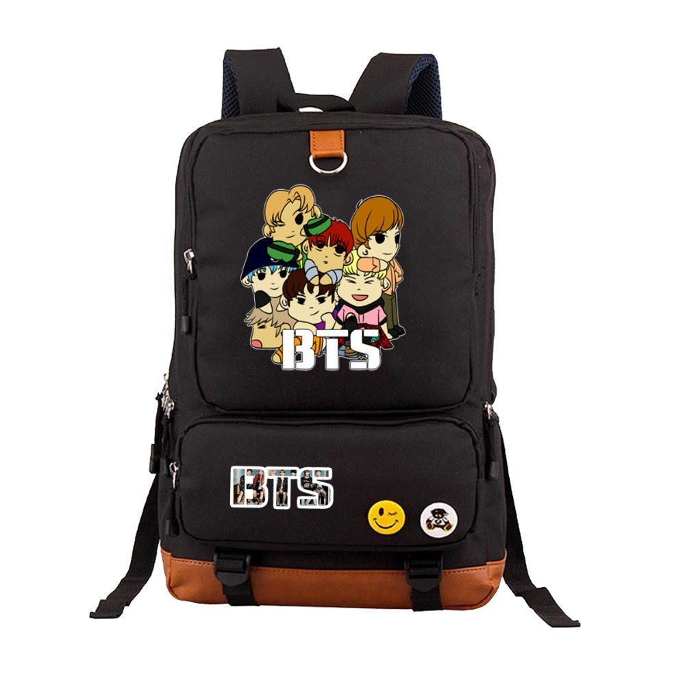 BTS Bangtan Boys Rap Monste Canvas backpack Girl boy Student School bag teenagers travel bags men women Laptop Rucksacks 7 style