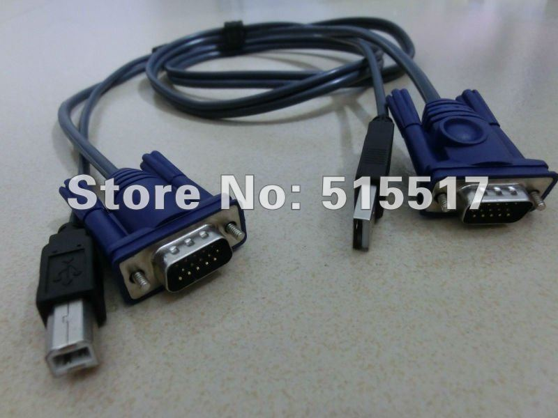 Free shipping USB SVGA KVM switch cable for Monitor Mouse Keyboard Printer manufactory